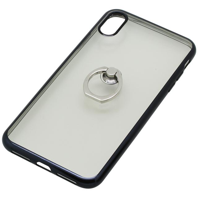 iPhoneXS Max用 6.5インチリング付ケースメッキ